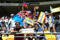Fans during day two of the 2016 HSBC Wellington Sevens at Westpac Stadium, Wellington, New Zealand on Sunday, 31 January 2016. Photo: Nizaam Jones / lintottphoto.co.nz