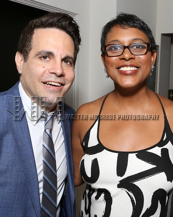 Mario Cantone and Schele Williams attend 'Parlor Night' A benefit evening for The Broadway Inspirational Voices Outreach Program at the home of Roy and Jenny Neiderhoffer on June 22, 2015 in New York City.