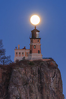 &quot;Super Moon over Split Rock Lighthouse&quot;<br />