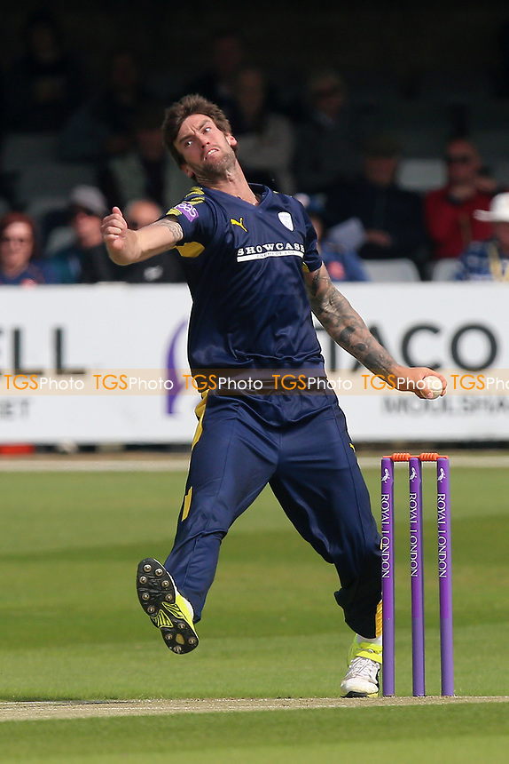Reece Topley in bowling action for Hampshire during Essex Eagles vs Hampshire, Royal London One-Day Cup Cricket at The Cloudfm County Ground on 30th April 2017