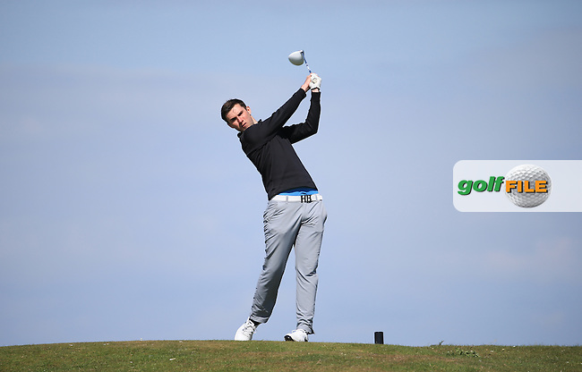 Matthew Bacon during Round Two of the West of England Championship 2016, at Royal North Devon Golf Club, Westward Ho!, Devon  23/04/2016. Picture: Golffile | David Lloyd<br /> <br /> All photos usage must carry mandatory copyright credit (&copy; Golffile | David Lloyd)