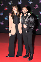 French singer Clara Luciani (L) and French singer Kendji Girac pose on the red carpet as she arrives to attend the 21st NRJ Music Awards ceremony at the Palais des Festivals in Cannes, southeastern France, on November 9, 2019<br /> La chanteuse française Clara Luciani (G) et le chanteur français Kendji Girac posent sur le tapis rouge lors de son arrivee a la 21e ceremonie des NRJ Music Awards au Palais des Festivals a Cannes, dans le sud-est de la France - le 9 novembre 2019.<br /> Eric Dervaux_ DALLE