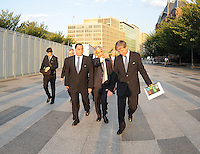 USA Bid Committee for the 2018 or 2022 FIFA World Cup from right to left Harold Mayne-Nicholls (Head of FIFA Inspection) Sunil Gulati (Chairman of USA Bid Committee)  Danny Jordan (CEO of 2010 FIFA World Cup Organizing Committee) at the White House, Wednesday  September 8, 2010.