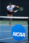 Christian Seraphim of the Wake Forest Demon Deacons follows through on his serve during his match at #6 singles against the Texas A&M Aggies during the semifinals at the 2018 NCAA Men's Tennis Championship at the Wake Forest Tennis Center on May 21, 2018 in Winston-Salem, North Carolina. The Demon Deacons defeated the Aggies 4-3. (Brian Westerholt/Sports On Film)