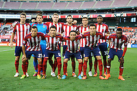 Washington, D.C.- July 20, 2014. Chivas USA Starting Eleven.  D.C. United defeated Chivas USA 3-1 during a Major League Soccer Match for the 2014 season at RFK Stadium.