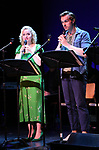 """Amanda Jane Cooper and Zach Adkins during the New York Musical Festival production of  """"Alive! The Zombie Musical"""" at the Alice Griffin Jewel Box Theatre on July 29, 2019 in New York City."""