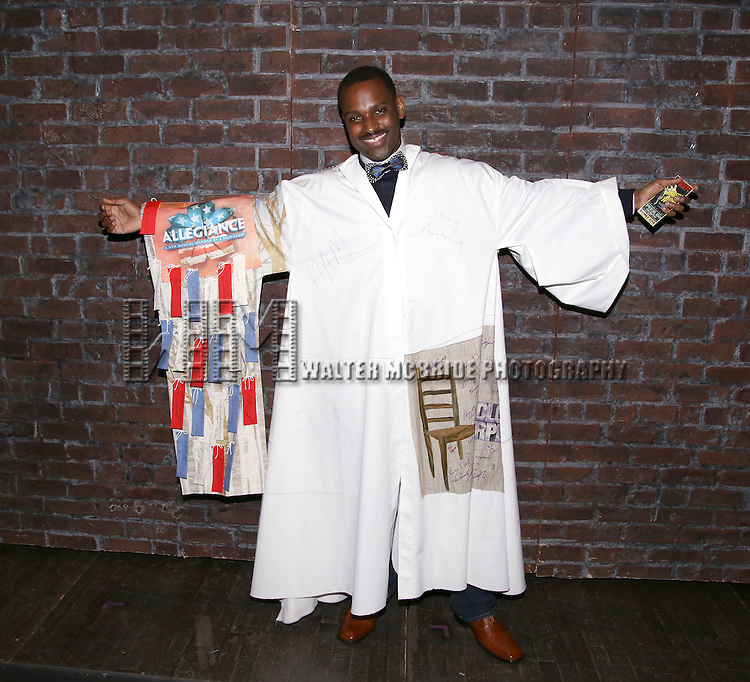 Arbender Robinson during the Actors' Equity Opening Night Gypsy Robe Ceremony honoring Arbender Robinson for 'Shuffle Along' at The Music Box Theatre on April 28, 2016 in New York City.