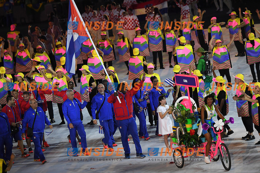 Cuba delegation <br /> Rio de Janeiro 05-08-2016 Maracana Stadium <br /> Olympic Games Opening Ceremony <br /> Cerimonia di Apertura Olimpiadi Rio 2016 <br /> Foto Andrea Staccioli/Deepbluemedia/Insidefoto