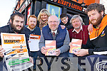BEARDED BUNCH: Ballyheigue locals who are to shave off their beards this weekend as part of the charity Ballyheigue Beardfest, l-r: Damien White, John McDonnell, Eimear O'Mahony (Organiser), Cllr. John Brassil, Michael Leane Jnr., Michael Leane Snr, Kevin O'Mahony.