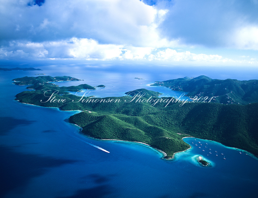 Leinster Bay to East End Aerial<br /> St John, US Virgin Islands