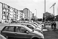 Milano, quartiere Quarto Oggiaro, periferia nord. Via pascarella --- Milan, Quarto Oggiaro district, north periphery