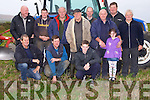 The Ballyheigue Ploughing Committee met on Derek O'Driscoll's land on Saturday morning to announce details of the forth coming Ballyheigue Ploughing Competition which will be on Derek's land Sunday 2nd November 2014 the committee with their family Derek,Michael,James and Ruth O'Driscoll, Michael O'Hanlon, Thomas and Philip Healy,Liam,Christy and Richard O'Mahony,Micheál Heir and Michael O'Halloran.