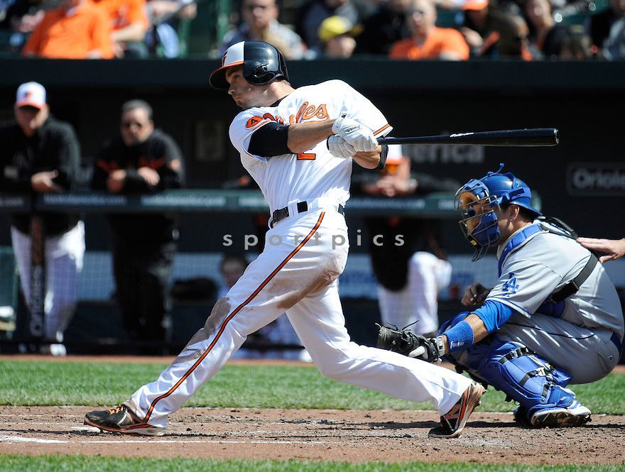 Baltimore Orioles JJ Hardy (2)  during a game against the Los Angeles Dodgers on April 21, 2013 at Oriole Park in Baltimore, MD. The Dodgers beat the Orioles 7-4.