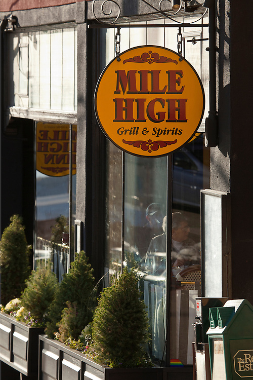 Exterior of the Mile High restaurant in Jerome, Arizona