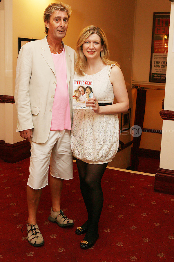 26/8/2010. NO REPRO FEE. Little Gem Opening night.  Eoin Finley and Frances Winston are pictured at the Olympia Theatre Dublin for the opening night of Little Gem. Hilda Fay makes her return as Lorraine, Anita Reeves continues in the role of Kay, and Genevieve Hulme-Beaman takes on the role of Amber. After sell-out seasons in New York, London and Paris and a sold-out 7-week run at Ireland's National Theatre, Gúna Nua is bringing its bittersweet comedy Little Gem back to Dublin for 10 shows only at The Olympia Theatre from August 26 to September 4, 2010. Love, sex, birth, death, dildos and salsa classes: Elaine Murphy's award winning Little Gem sees three generations of Dublin women on a wild and constantly surprising journey. Picture James Horan/Collins Photos