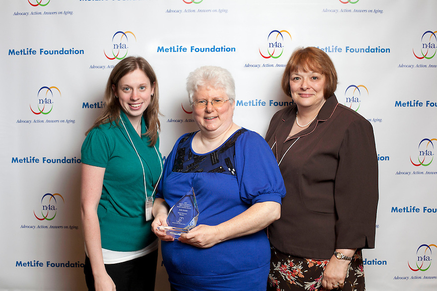 Kayle Coyle, left, silver honoree Ruth Dodds, middle and Debbie Basile, right, at the Older Volunteers Enrich America Awards at the Double Tree Hotel in Washington, DC on Friday, June 17, 2011.