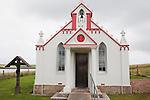 Italian Chapel on Lamb Holm in the Orkney Islands; Scotland