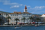 .Medival town of Trogir.Cruise in Croatia. Island of Dalmatia