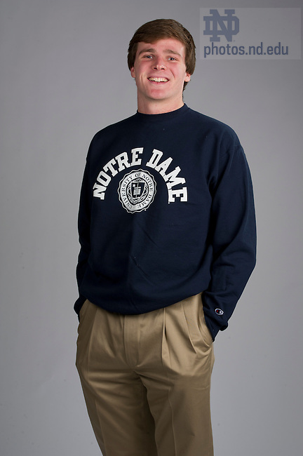 December 2, 2011; Peter Baxter - Admissions Student Portraits for Web. Photo by Barbara Johnston/University of Notre Dame.