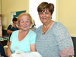 Rosemary Gogarty and Anne Doonan pictured at the SOSAD coffee morning at Donore parish hall. Photo:Colin Bell/pressphotos.ie