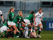 1st February 2019, Energia Park, Dublin, Ireland; Womens Six Nations rugby, Ireland versus England; Ailsa Hughes (Ireland) releases the ball from a ruck