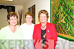 Killorglin ladies Kathleen O'Shea, Mary Taylor and Mary O'Shea at the launch of Jason Griffin art exhibition in Killorglin Friday evening    Copyright Kerry's Eye 2008