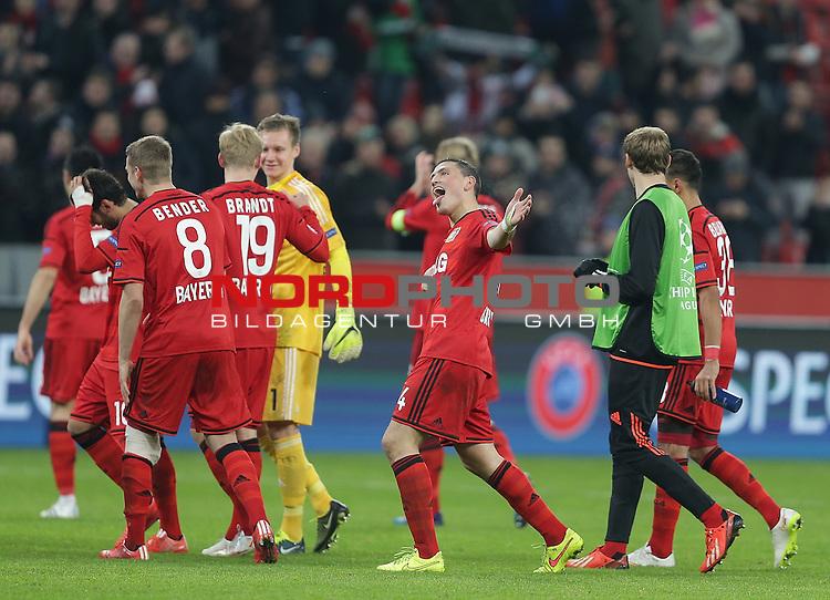 25.02.2015, Bay-Arena, Leverkusen, Championsleague, Bayer 04 Leverkusen vs. Atletico Madrid<br /> Foto &copy; nordphoto /  Bratic