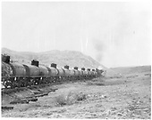 Train of GRAMPS tank cars - probably loaded (pusher at end of train) and possibly going into Cumbres Pass.<br /> D&amp;RGW  Cumbres Pass ?, CO