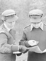 BNPS.co.uk (01202 558833)<br /> Pic: Pen&Sword/BNPS<br /> <br /> PICTURED: Orienteering on a combined unit exercise in the 1980s.<br /> <br /> These inspiring photos of nurses on the front line feature in a new book which charts a century's heroic wartime service.<br /> <br /> The First Aid Nursing Yeomanry (FANY) was founded in 1907 by Captain Edward Baker with the early recruits trained in cavalry, signalling and camping.<br /> <br /> They were despatched to France at the outset for World War One to tend to injured troops on the battlefield, setting up hospitals for the many casualties. Other heroines dragged wounded personnel from exploding ammunition dumps.<br /> <br /> The brave nurses were again in the centre of the action in World War Two, performing sterling work in the harshest of conditions.<br /> <br /> Their stories feature in The First Aid Nursing Yeomanry in War and Peace, by Hugh Popham.