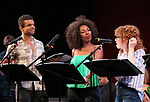 """Blaine Alden Krauss, Daisy Hobbs and Lindsay Nicole Chambers during the New York Musical Festival production of  """"Alive! The Zombie Musical"""" at the Alice Griffin Jewel Box Theatre on July 29, 2019 in New York City."""