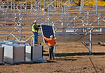 Longwood Gardens - Delaware County - installing the panels.