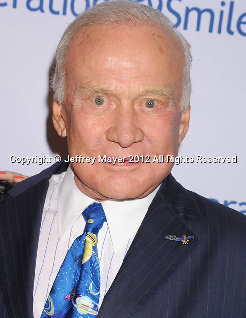 BEVERLY HILLS, CA - SEPTEMBER 28: Buzz Aldrin attends Operation Smile's 30th Anniversary Smile Gala - Arrivals at The Beverly Hilton Hotel on September 28, 2012 in Beverly Hills, California.