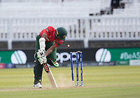 Shaheen Afridi (Pakistan) yorked Mustafizur Rahman (Bangladesh) forms sixth wicket during Pakistan vs Bangladesh, ICC World Cup Cricket at Lord's Cricket Ground on 5th July 2019