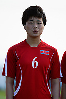 20190227 - LARNACA , CYPRUS : Ju Hyo Sim pictured during a women's soccer game between Korea DPR and Czech Republic , on Wednesday 27 February 2019 at the GSZ Stadium in Larnaca , Cyprus . This is the first game in group A for both teams during the Cyprus Womens Cup 2019 , a prestigious women soccer tournament as a preparation on the Uefa Women's Euro 2021 qualification duels and the Fifa World Cup France 2019. PHOTO SPORTPIX.BE | STIJN AUDOOREN