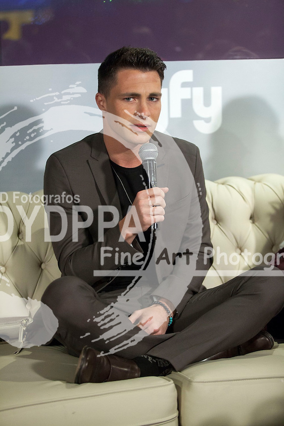 "The actors Colton Haynes attends the fan event of the tv shows ARROW and THE 100, at the ""ATRESMEDIA CAFE""   in Madrid, Spain. Jun 9, 2014. Photo by Nacho lopez/ DyD Fotografos-DYDPPA"