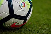 1st October 2017, Mestalla, Valencia, Spain; La Liga football, Valencia CF versus Athletic Bilbao; Official ball of La Liga 2017-18