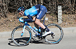 Imanol Erviti (ESP) Movistar Team descends during Stage 4 of the Volta Ciclista a Catalunya 2019 running 150.3km from Llanars (Vall De Camprodon) to La Molina (Alp), Spain. 28th March 2019.<br /> Picture: Colin Flockton | Cyclefile<br /> <br /> <br /> All photos usage must carry mandatory copyright credit (© Cyclefile | Colin Flockton)