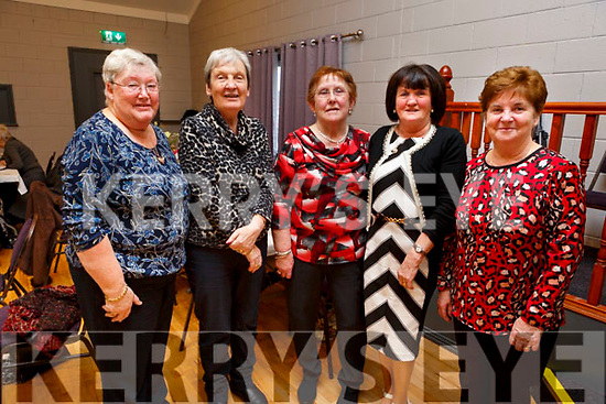 Marian O'Brien, Helen Smith, Kathleen McMullen, Theresa Lehane and Anita Costelloe enjoying the Connolly Park Residents Christmas party in the Austin Stacks Clubhouse on Sunday.