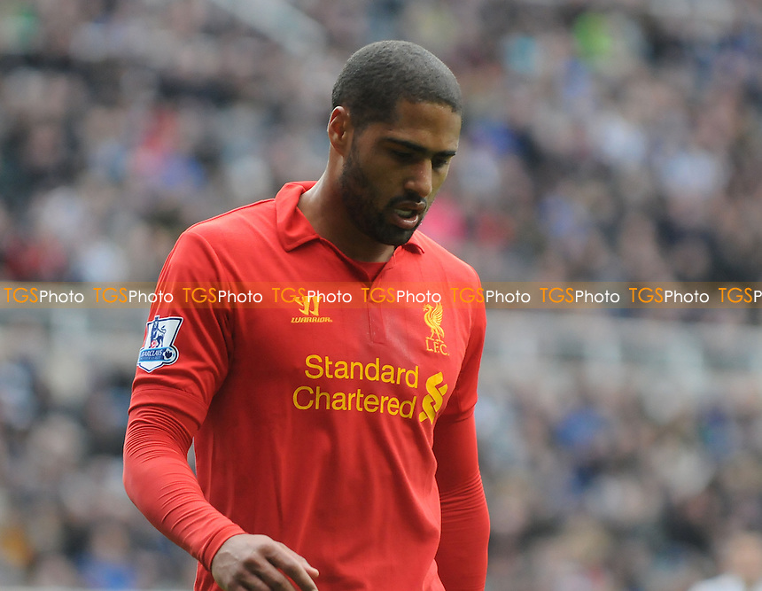 Glen Johnson of Liverpool - Newcastle United vs Liverpool - Barclays Premier League Football at St James Park, Newcastle upon Tyne - 27/04/13 - MANDATORY CREDIT: Steven White/TGSPHOTO - Self billing applies where appropriate - 0845 094 6026 - contact@tgsphoto.co.uk - NO UNPAID USE
