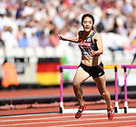 Hitomi SHIMURA (JPN) in the womens 100m hurdles heats. IAAF world athletics championships. London Olympic stadium. Queen Elizabeth Olympic park. Stratford. London. UK. 11/08/2017. ~ MANDATORY CREDIT Garry Bowden/SIPPA - NO UNAUTHORISED USE - +44 7837 394578