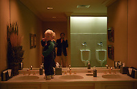 With my nephew and godson, Myles Magnus in the men's room of the Oneida Golf and Country Club in Green Bay, Wisconsin.