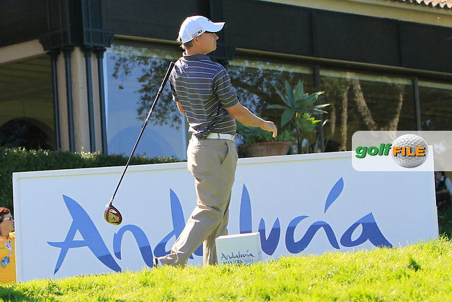James Morrison (ENG) during the 2nd day at the  Andalucía Masters at Club de Golf Valderrama, Sotogrande, Spain. .Picture Denise Cleary www.golffile.ie