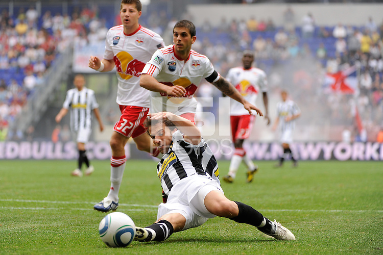 Alessandro Del Piero (10) of Juventus F. C. is unable to connect with a pass. The New York Red Bulls defeated Juventus F. C. 3-1 during a friendly at Red Bull Arena in Harrison, NJ, on May 23, 2010.