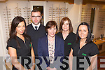 Theresa Tangney centre with her staff at Tangney's Optician's l-r: Grainne Galvin, John King, Noreen Clifford and Karen Murphy