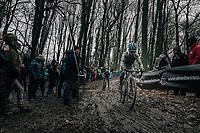 Eli Iserbyt (BEL/Marlux-Napoleon Games)<br /> <br /> Elite Men's Race<br /> CX Vlaamse Druivencross Overijse 2017