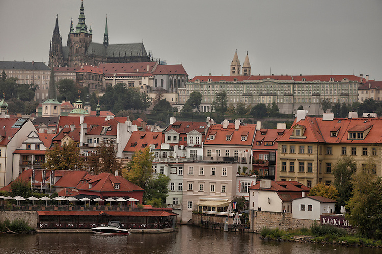 Prague's panorama is on display from the vantage point on Charles Bridge