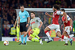 14.09.2017, Emirates Stadium, London, GER, Europa League, Arsenal London vs 1. FC Koeln, im Bild<br /> <br /> im Zweikampf von links: Jonas Hector ( Koeln #14 ), Mohamed Elneny ( Arsenal #35 )<br /> <br /> <br /> Foto &copy; nordphoto / Treese