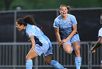 Piscataway, NJ - Sunday April 30, 2017:  Raquel Rodriguez and Erica Skroski during a regular season National Women's Soccer League (NWSL) match between Sky Blue FC and FC Kansas City at Yurcak Field.
