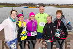 Niamh Abeyta, Lucy Fitzell, Ann O'Shea, John Counihan, Anna Stack and Kirsty McTrusty, all who took part in the Valentines 10 mile road race in Tralee, on Sunday morning last.