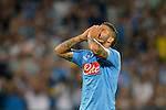 Lorenzo Insigne of Napoli during the match between SSC Napoli and Athletic Club Bilbao, play-offs First leg Champions League at the San Paolo Stadium onTuesday August 19, 2014 in Napoli, Italy. (Photo by Marco Iorio)<br />